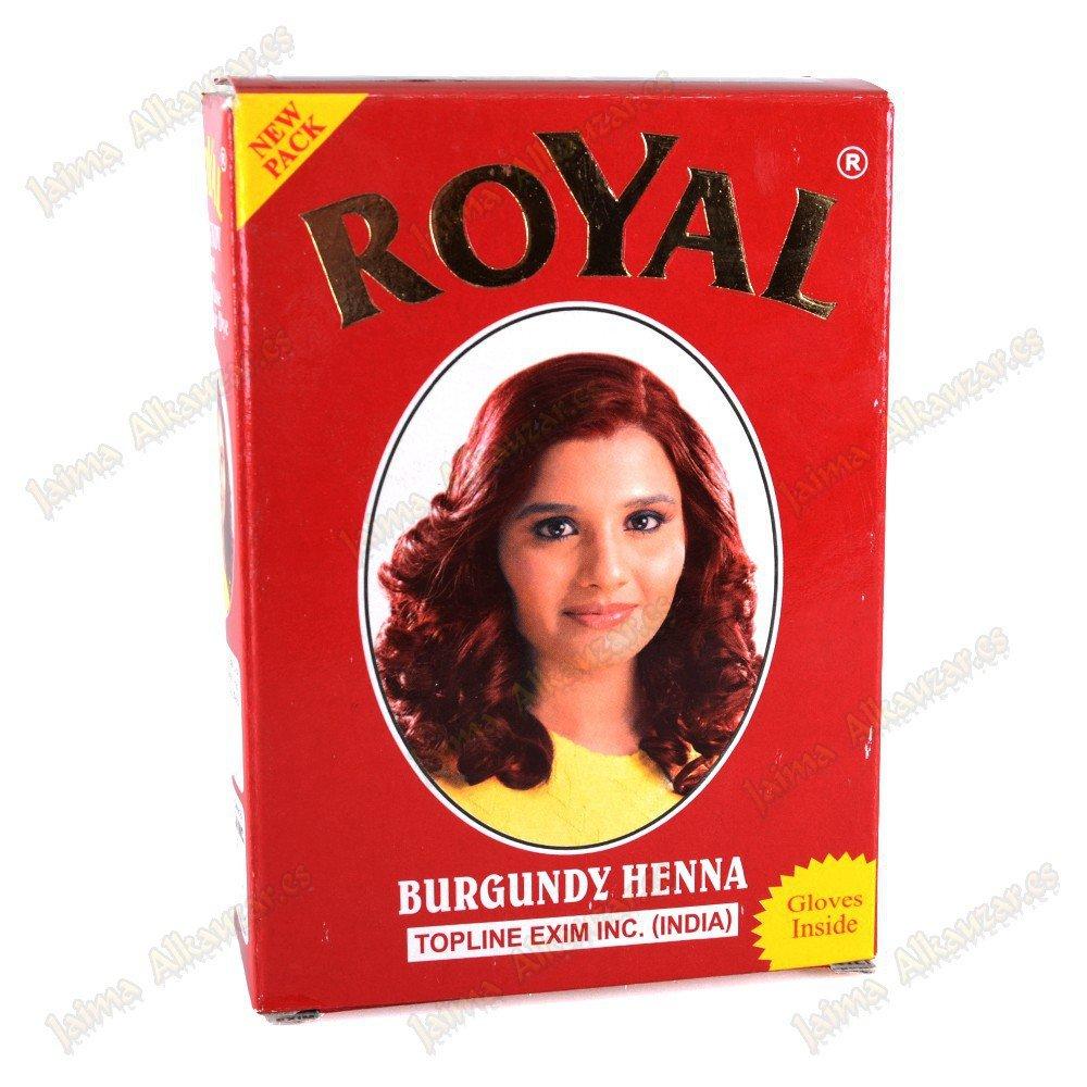 Herbal Base Powder Dye - Burgundy Henna - 60g Topline Exim INC