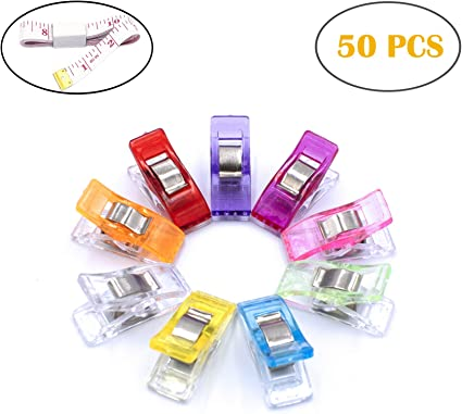 48PCS Large Wonder Clips,Multipurpose Sewing Quilting Binding Clips,Sewing Supplies for Office and Craft Projects.