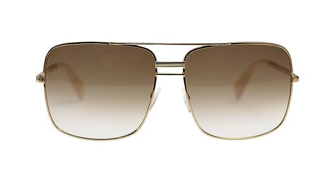 4ba0c53abd Amazon.com  Celine Unisex Sunglasses CL41808 J5G Gold With Brown ...