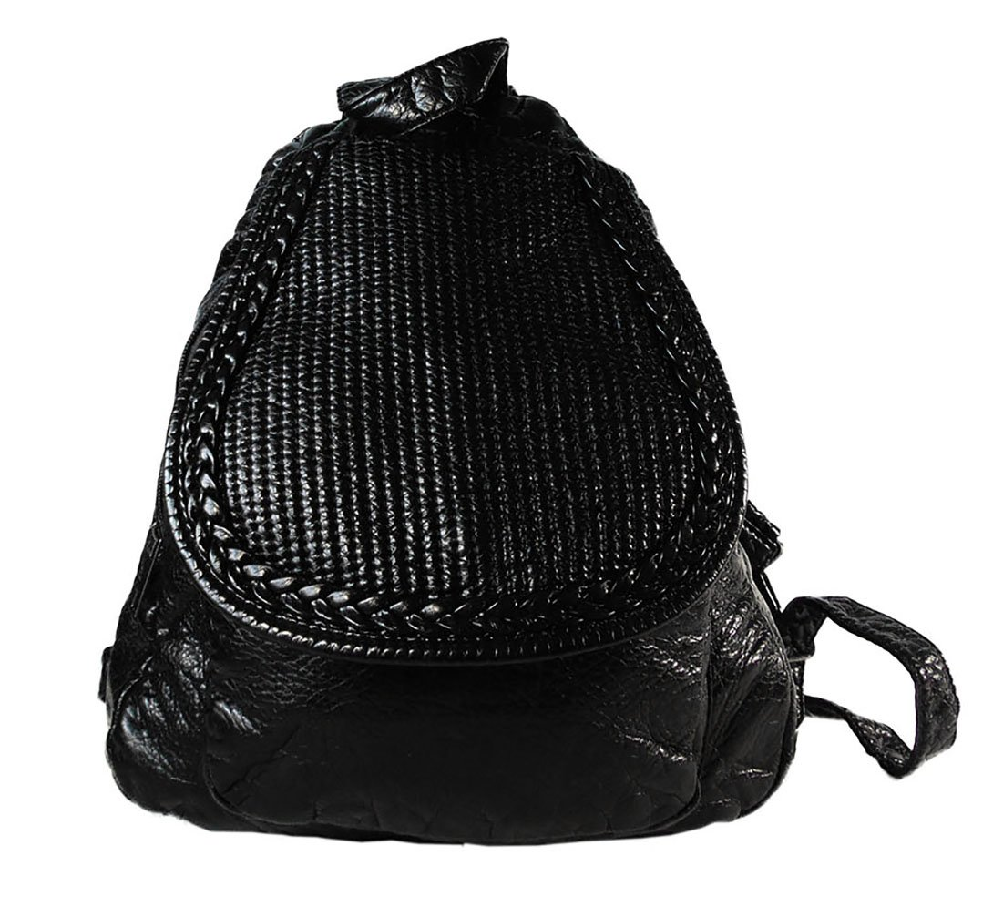 Backpack for Women Black Ladies Purse Fashion Urban Casual Stylish Cute Modern Chic for Everyday C12