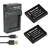 Newmowa Li-50B Batteria (confezione da 2) e Portable Micro USB Caricatore kit for Olympus LI-50B and Olympus SZ-10 SZ-12 SZ-15 SZ-16 iHS Sz-20 SZ-30MR SZ31MR iHS TG-610 TG-630 HIS TG-810 TG-820 TG-830 HIS XZ-1 XZ-16 iHS SP-810UZ Stylus Tough TG-860 Digital Camera + More!