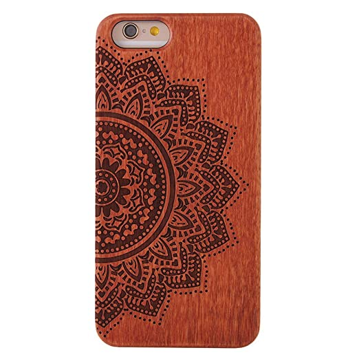 15 opinioni per Custodia iphone 6 6S, G-i-Mall Ultra Slim Natura Legno Custodia Wood back Cover