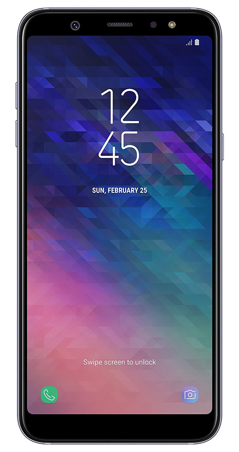 Samsung Galaxy A6 Plus Smartphone (15,36 cm (6 Zoll) AMOLED Display, 32GB Interner Speicher und 3GB RAM, Dual-SIM, Android 8.0) Lila - German Version