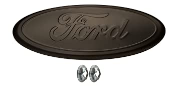 muzzys 05 14 f150 flat blacked out ford grille or tailgate emblem with nuts