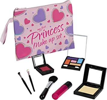 Playkidz- Item Name (aka Title) First Princess Set-8 Piece Cosmetic Play Kit Realistic Looking Toys Pretend Makeup for Girls, Multi (3080): Amazon.es: Juguetes y juegos