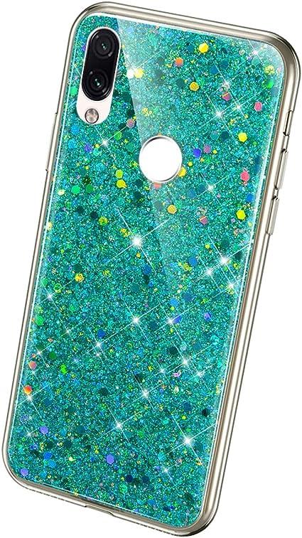 QPOLLY Cover Brillantini Compatibile con Xiaomi Redmi 6A Bling Glitter Scintillante Slim Placcatura Custodia Morbida Sottile Silicone Gel TPU Gomma Bumper Antiurto Protettiva Cover,Argento