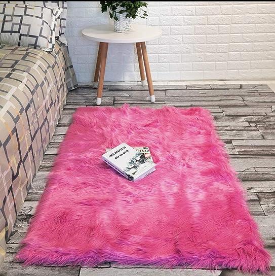 Faux Fur Rug Sheepskin Rug Fur Rug Bedroom Rugs Nursery Rug Room Decor Living Room Rug Area Rugs Fluffy Rug 3 x 5 Rug Pink