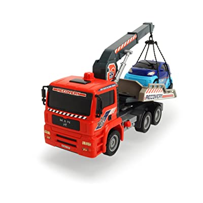 "Dickie Toys 12"" Air Pump Action Tow Truck with Crane Vehicle: Toys & Games"