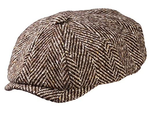 271fa8ff66f7c Olney Herringbone Wool Newsboy Cap at Amazon Men s Clothing store