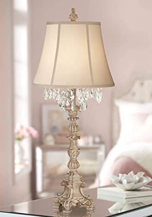 Lamps Antiques Large Antique Table Lamp With Antique Shade Clear Glass With Unique Wooden Trim