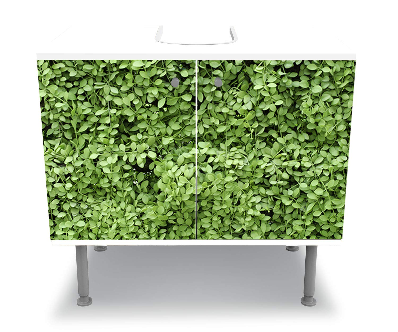 wandmotiv24 Mueble de baño Pared de Hojas Verdes Pegado Frontal Lavabo, Mueble Lavabo M1045: Amazon.es: Hogar