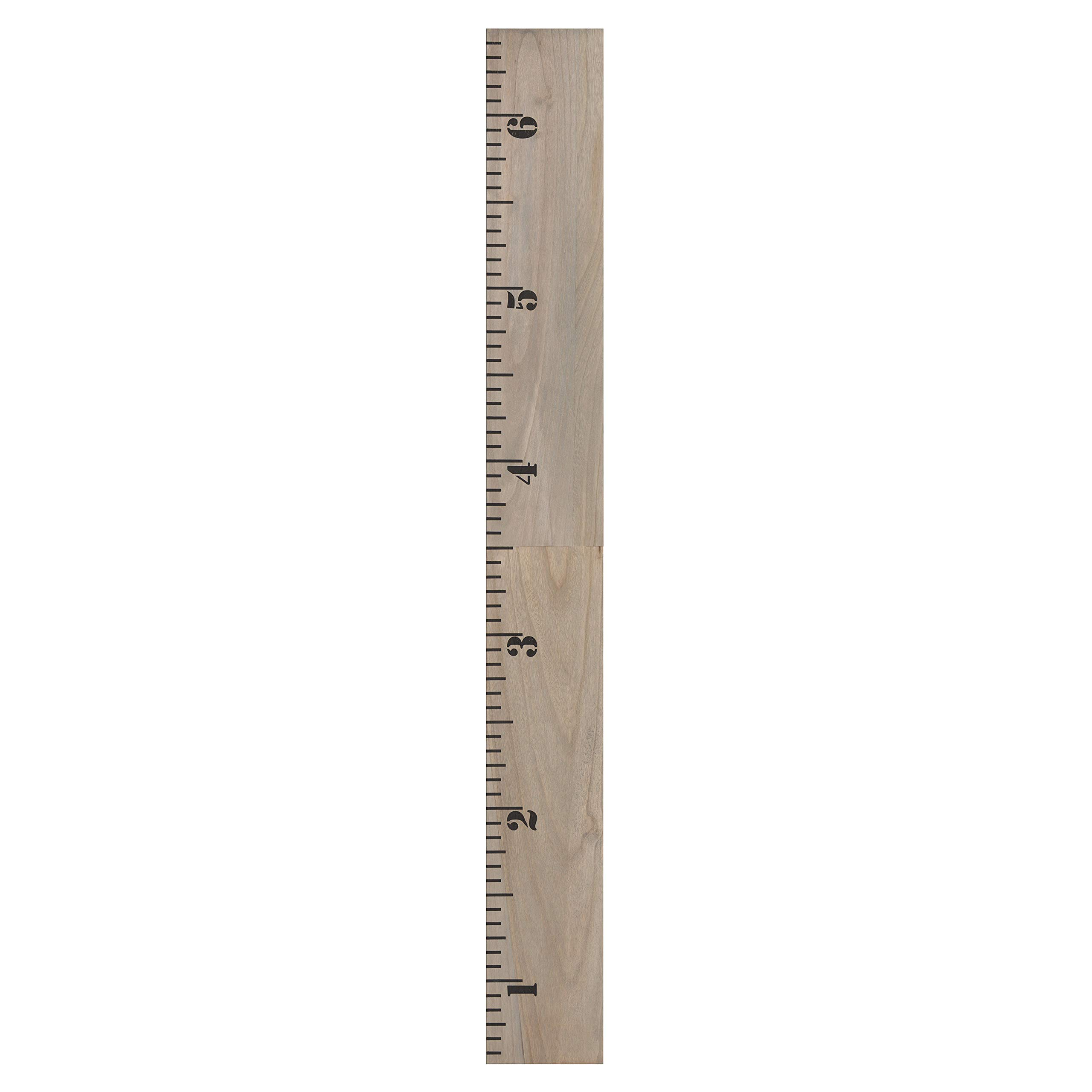 Kate and Laurel Growth Chart 6.5' Wood Wall Ruler, Gray by Kate and Laurel (Image #7)