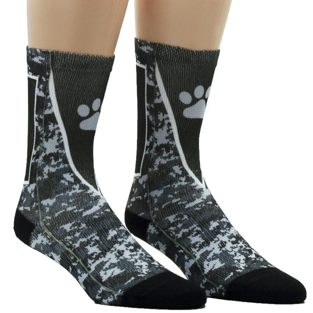 Sublimity Customizable Camouflage Team Sock| Soft Dri Fit | Cushioned Foot | Made in USA (9-11, Black/White/Red)