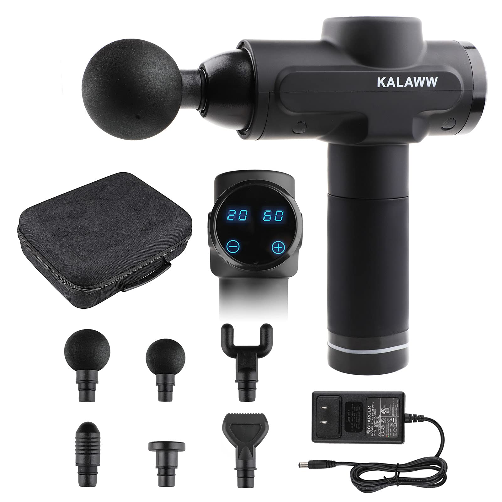 KALAWW Muscle Massage Gun with 6 Massage Heads 20 Speed for Athletes