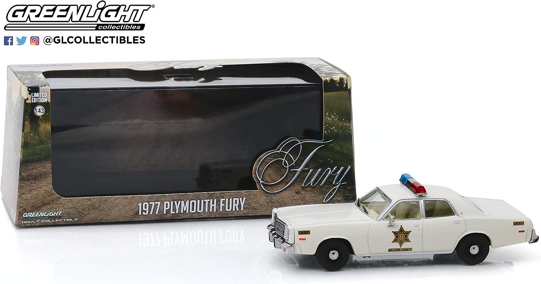 Greenlight 86558 1 43 1977 Plymouth Fury Hazzard County Sheriff