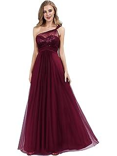 a36420bd901 Ever-Pretty Robe de Soirée Bustier à Paillettes Longue Femme Seule épaule  Élégante 07446
