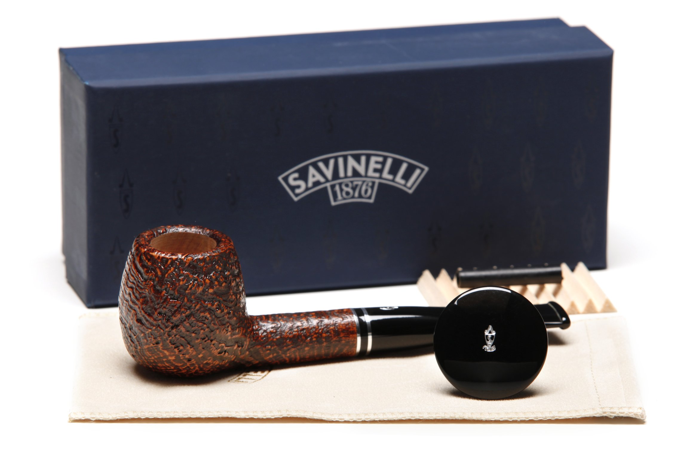 Savinelli Monsieur Brown Sandblast 207 Tobacco Pipe