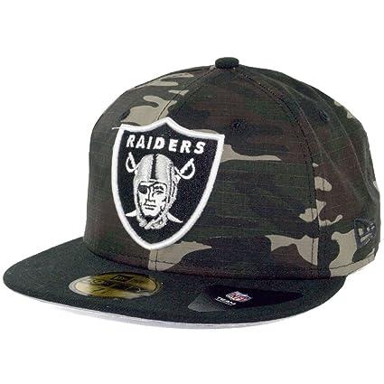 Amazon.com   New Era Rip Right Oakland Raiders Hat (Camo Black ... d87b6dba06b