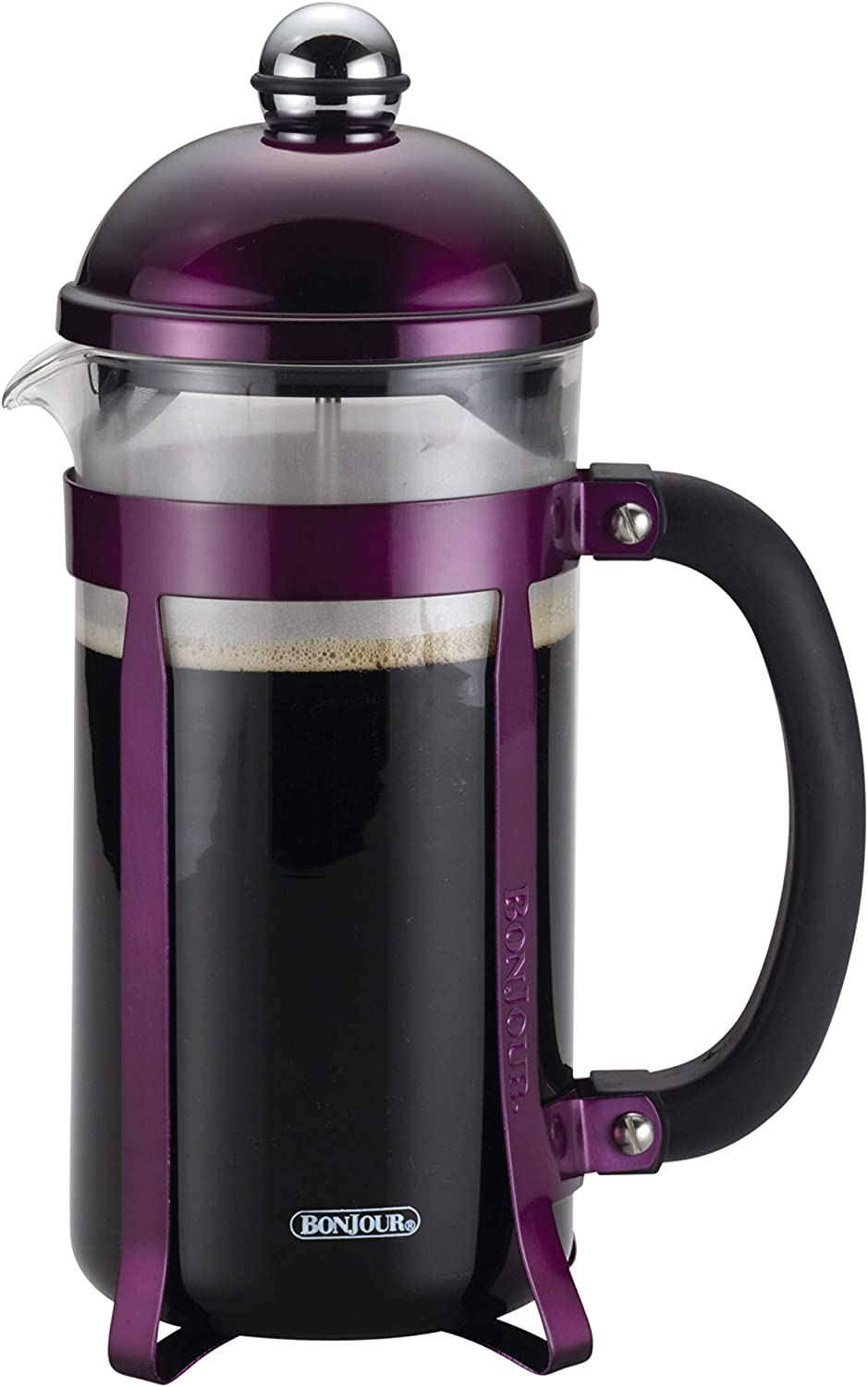 BonJour Maximus French Press Coffee Maker, 8 Cup, Purple