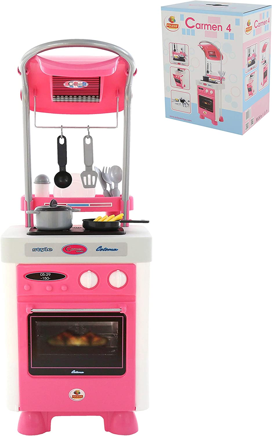 Polesie 58836 Carmen Kitchen With Oven And Stove Box Cooking And Play Toy Amazon De Spielzeug