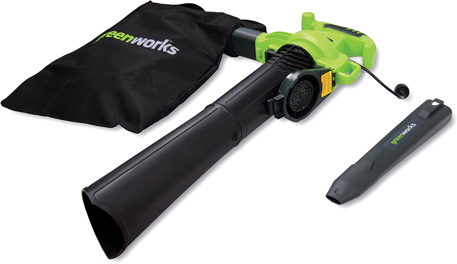 B0030BG1DQ Greenworks 24072 12A 235MPH Variable Speed Corded Blower/Vac includes Metal Repeller 71BHG03hjjL