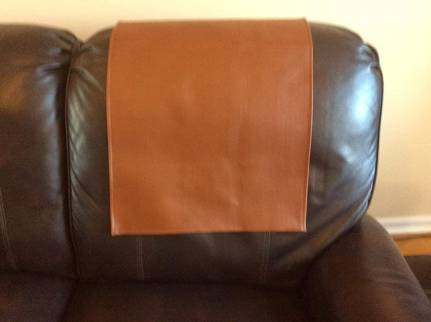 Recliner Headrest cover recliners Furniture Protector slipcovers for furniture Caramel Color By: Bittlemen Co.17x27