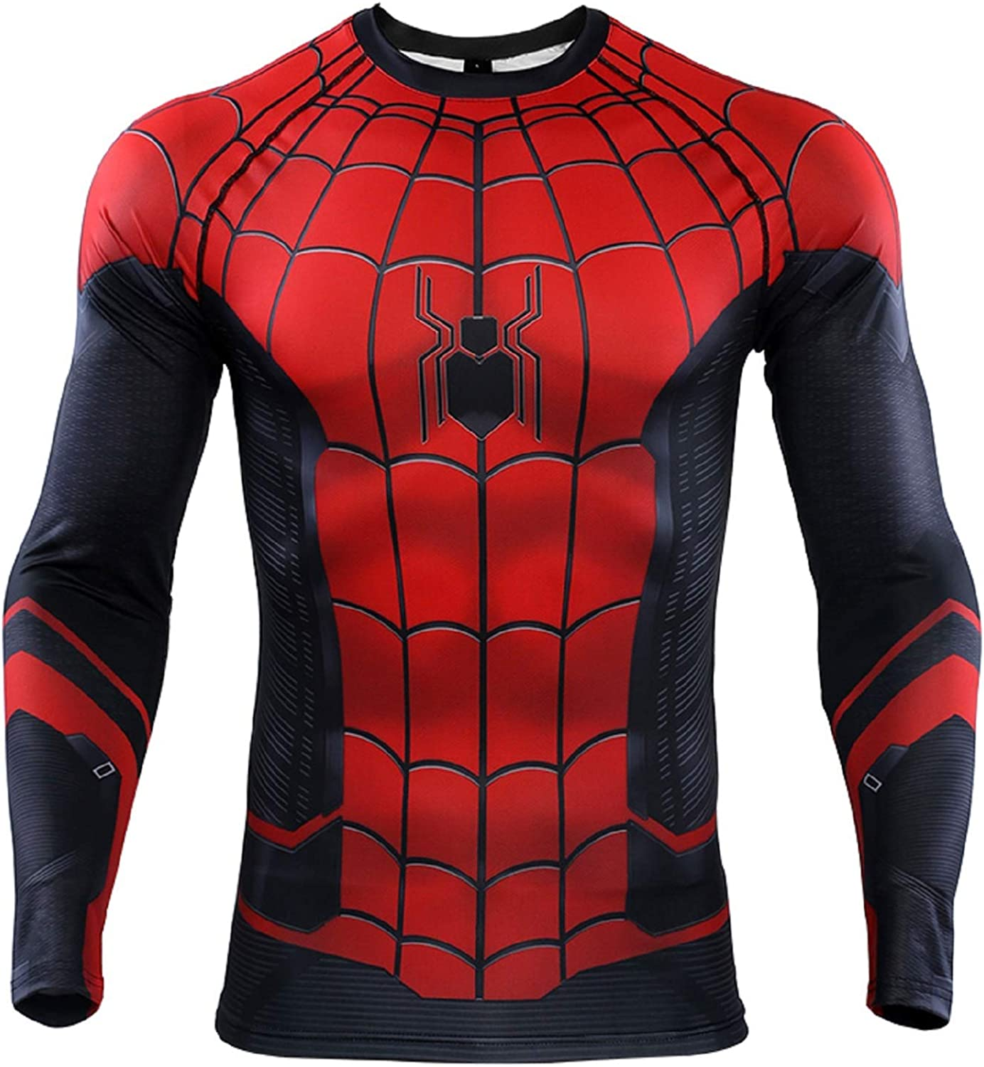 NEPIA GYM Super-Hero Spiderman Men's Compression Fitness Shirts Quick Drying Tights