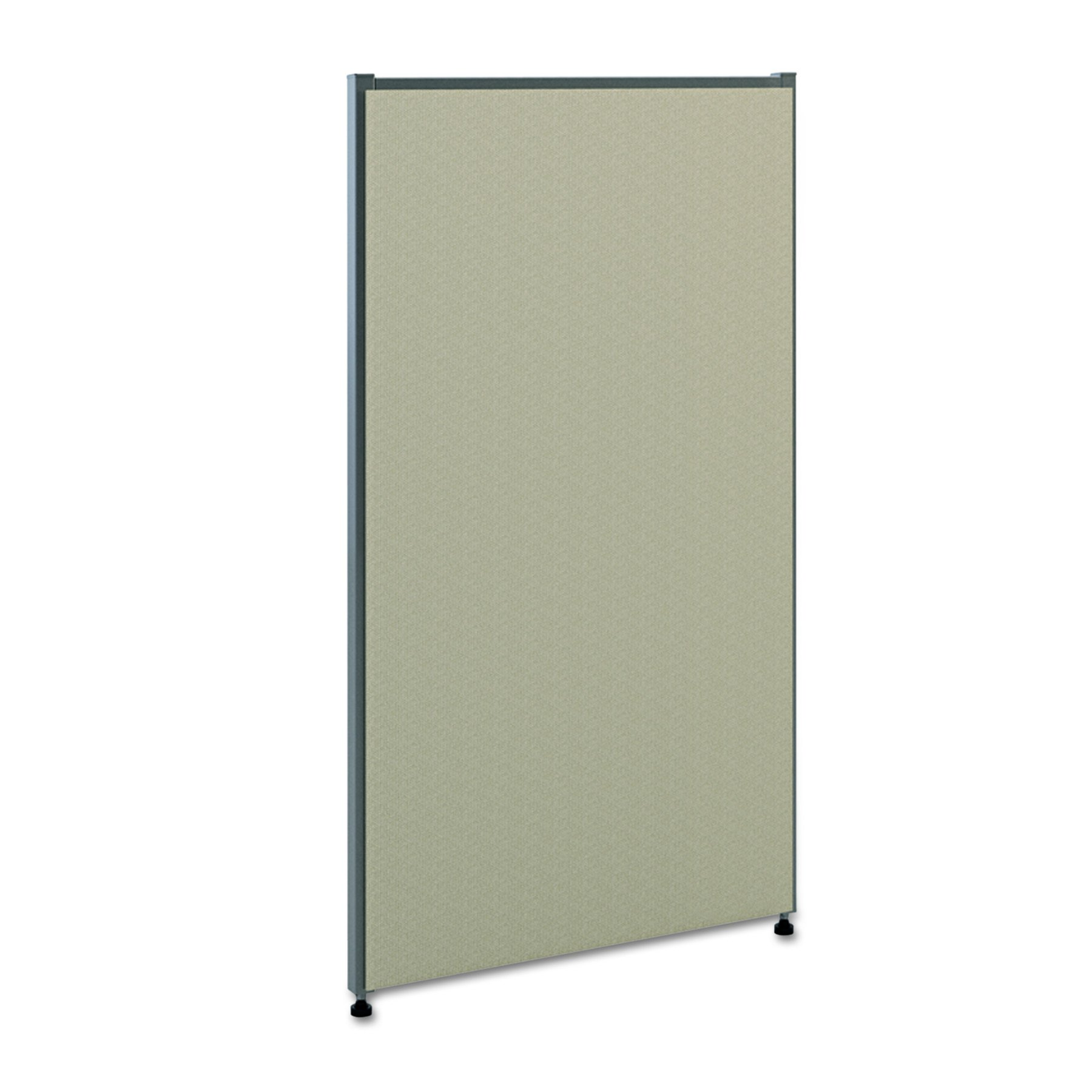 HON Verse Panel, 42'' H x 24'' W, Light Gray Finish, Gray Fabric