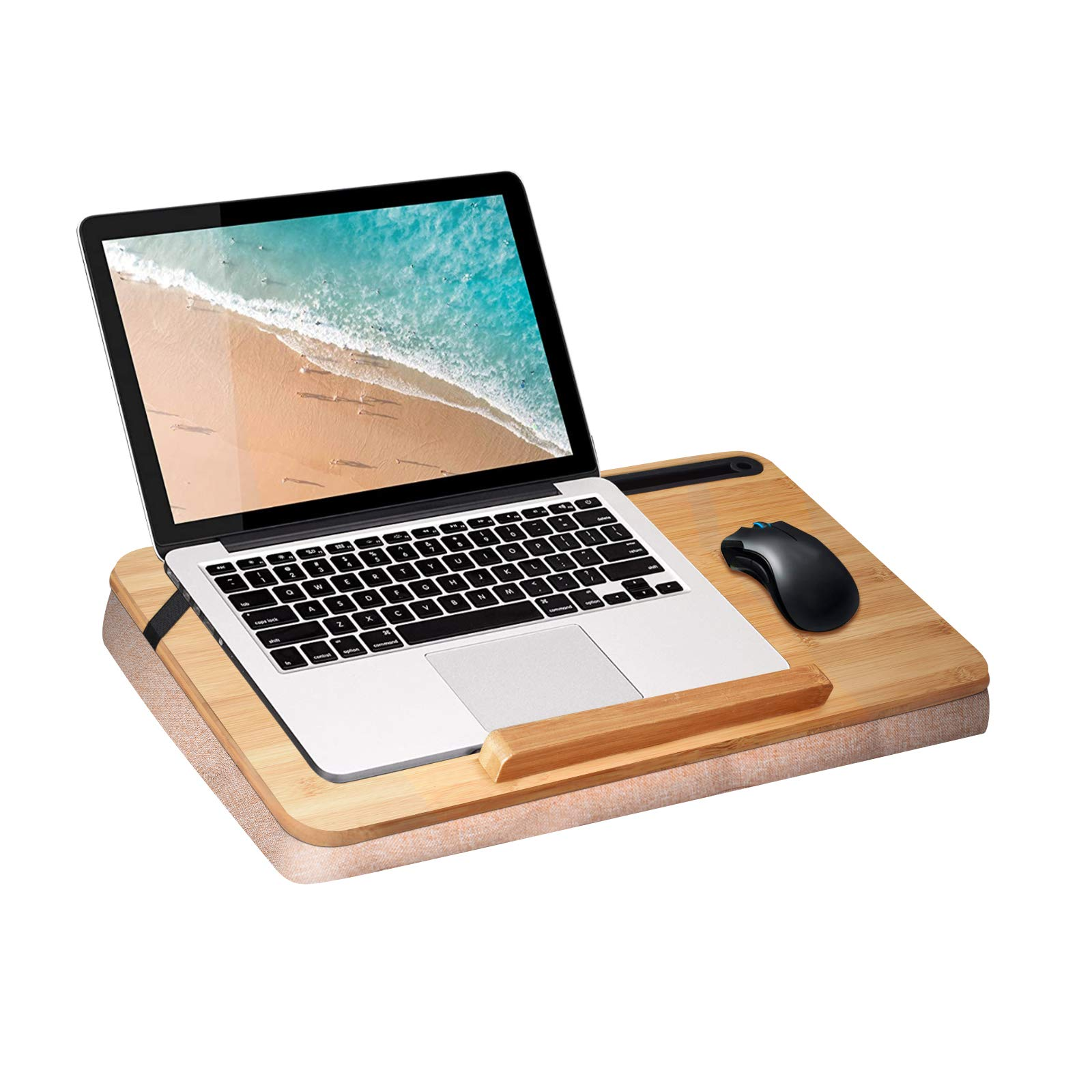 Bamboo Wood Lap Desk with Adjustable Pillow Cushion – wishacc Antique Laptop