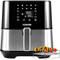 COSORI CP237-AF Air Fryer (100 Recipes, Rack & 4 Skewers, 9 Presets) Oven Oilless Cooker, Preheat/Alarm Reminder…