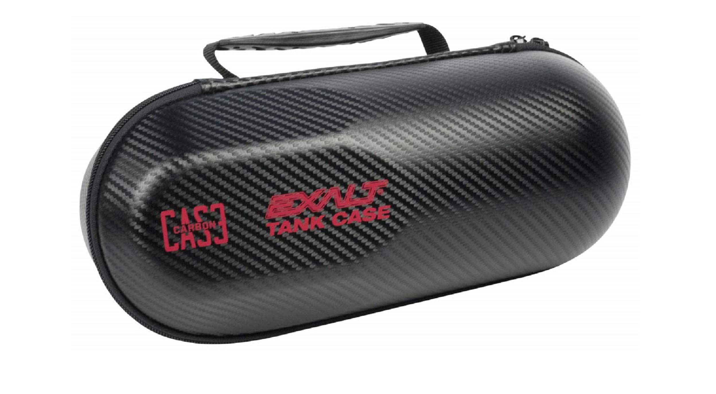 Exalt Paintball Carbon Series Tank Case (Black - Red) by Exalt