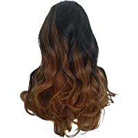 Nrpfell Honey Golden Wig In The Big Wave Long Gradient Wig Synthetic Wig Heat-Resistant High Temperature Silk Wig Headband Extended To Female Modeling Party Salon Essentials