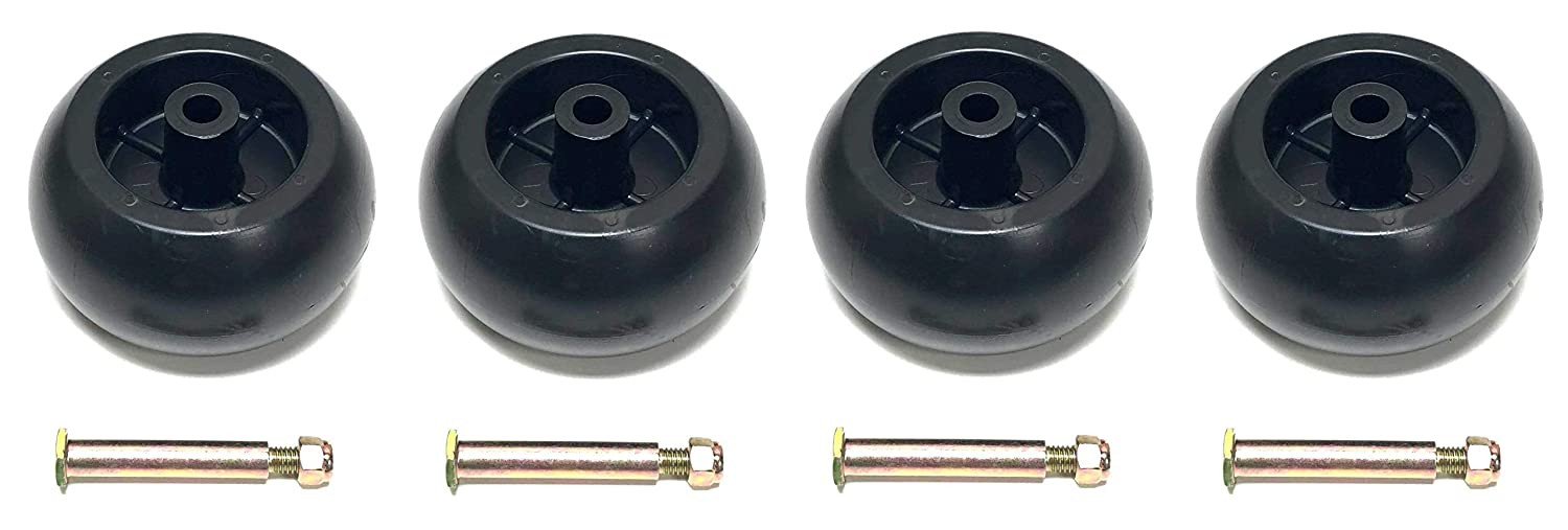 4 Deck Wheels + Shoulder Bolts, Lock Nuts For 133957 174873 532133957 532174873 Craftsman Poulan Husqvarna. MTD 734-03058, 753-04856. Murray 92683, 92265. John Deere M84690. Ariens 03471700, 03905600