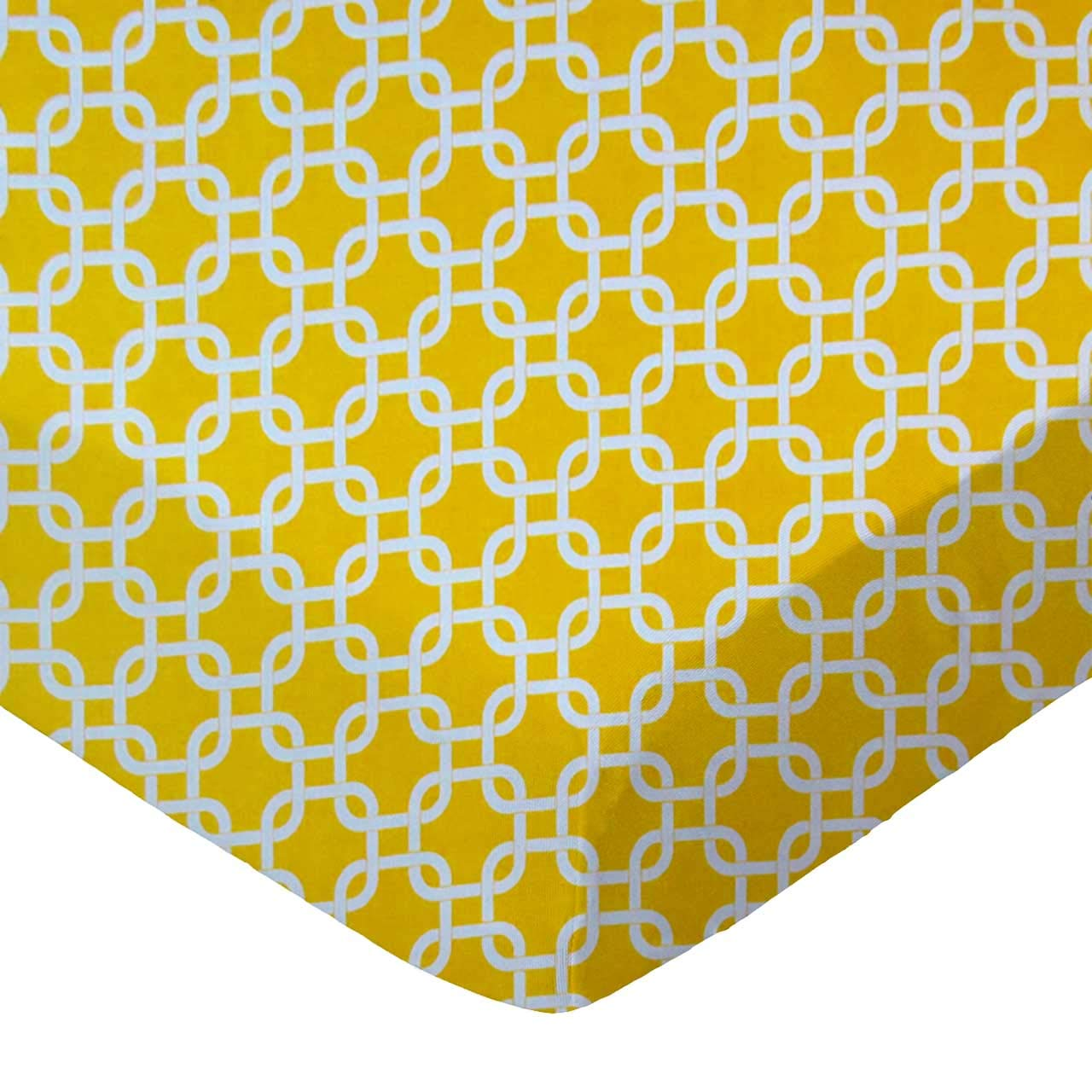 Mustard Yellow Links SheetWorld Fitted Bassinet Sheet Made In USA