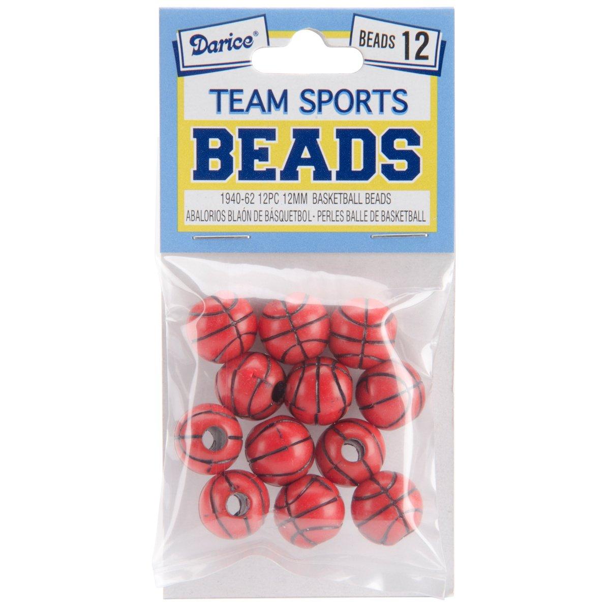 Darice Team sport Beads, 12mm, basket, 12-pack Darice (DARIE) BD1940-62
