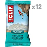 CLIF BAR - Energy Bar - Cool Mint Chocolate - With Caffeine 2.4 Ounce Protein Bar, 12 Count