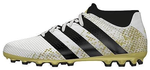 adidas Ace 16.3 Primemesh AG J, Chaussures de Football Entrainement Mixte Enfant, Blanc (