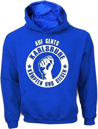 Karlsruhe 3XL shirtloge Fussball Lorbeerkranz Fan-Kapuzenpullover Gr/ö/ße S
