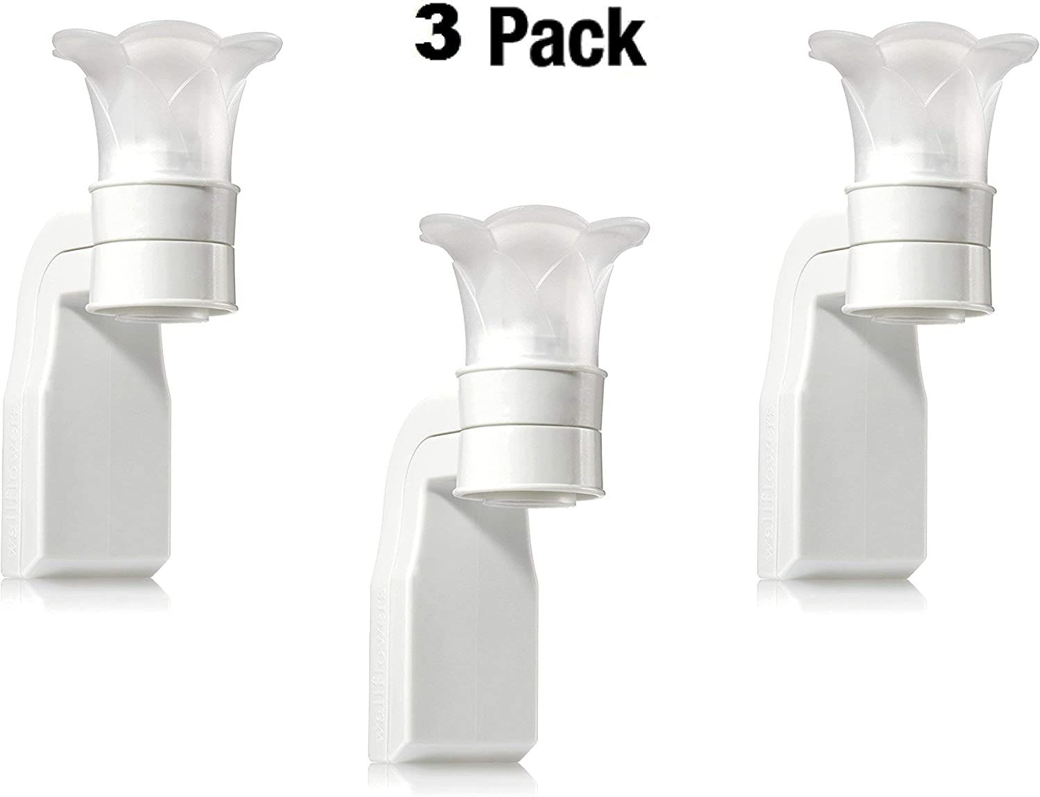 Bath & Body Works White Flower Top Wallflower Plug In Diffuser -- Set of THREE (3) Home Fragrance Wallflower Plugs