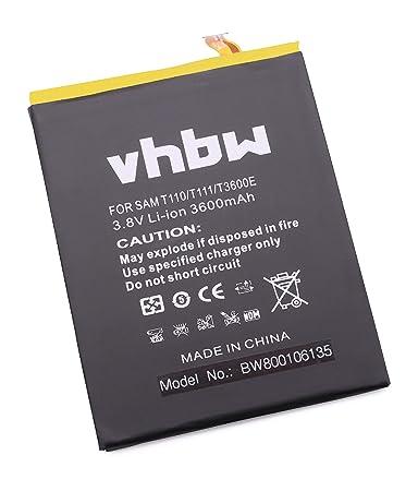 vhbw Akku 3600mAh (3.7V) für Tablet Pad Netbook Samsung Galaxy Tab 3 Lite 7.0 3G, WiFi, Neo, SM-T110, SM-T111 wie DL0DA18As/9