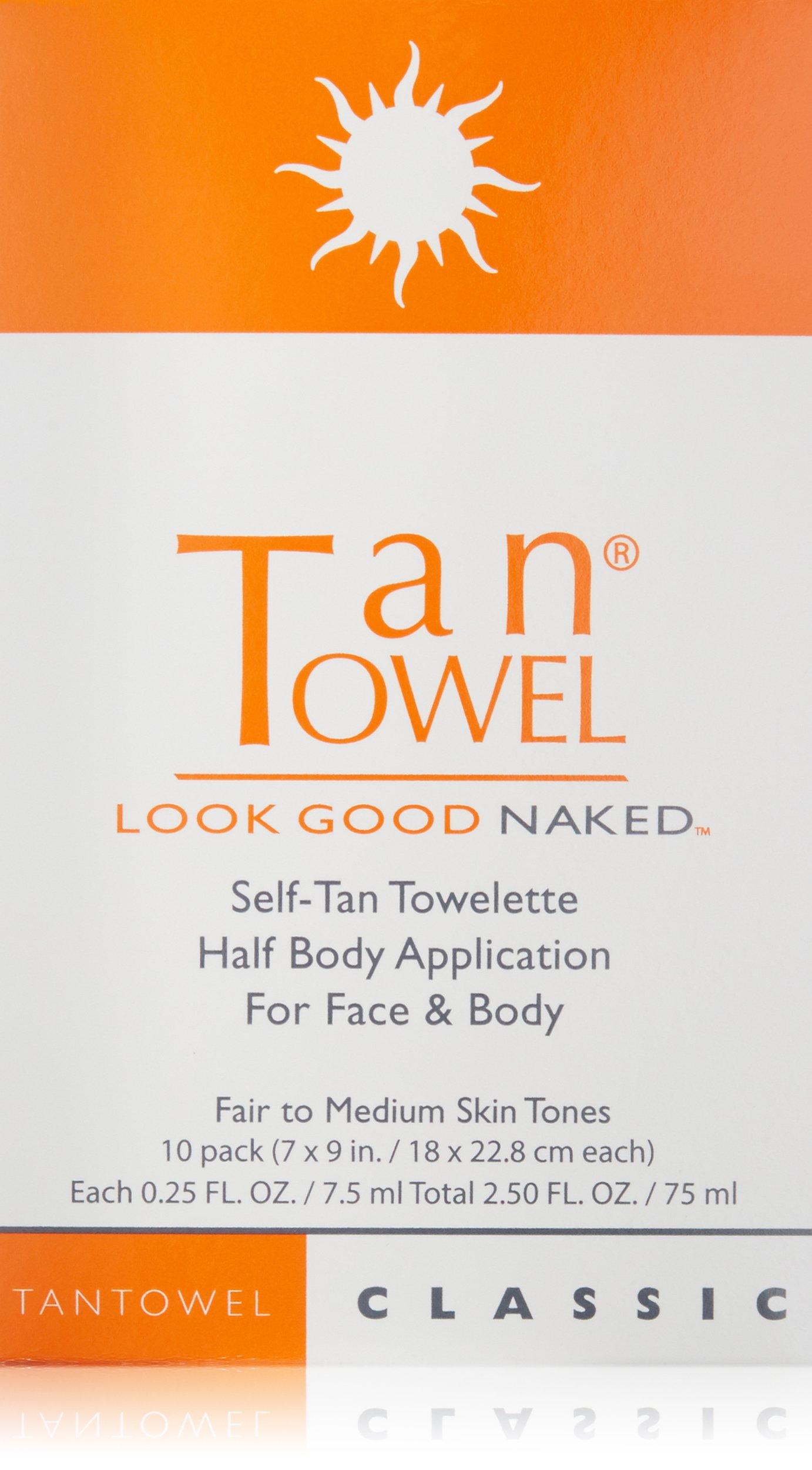 Tan Towel Self Tan Towelette Classic, 10 Count by Tan Towel