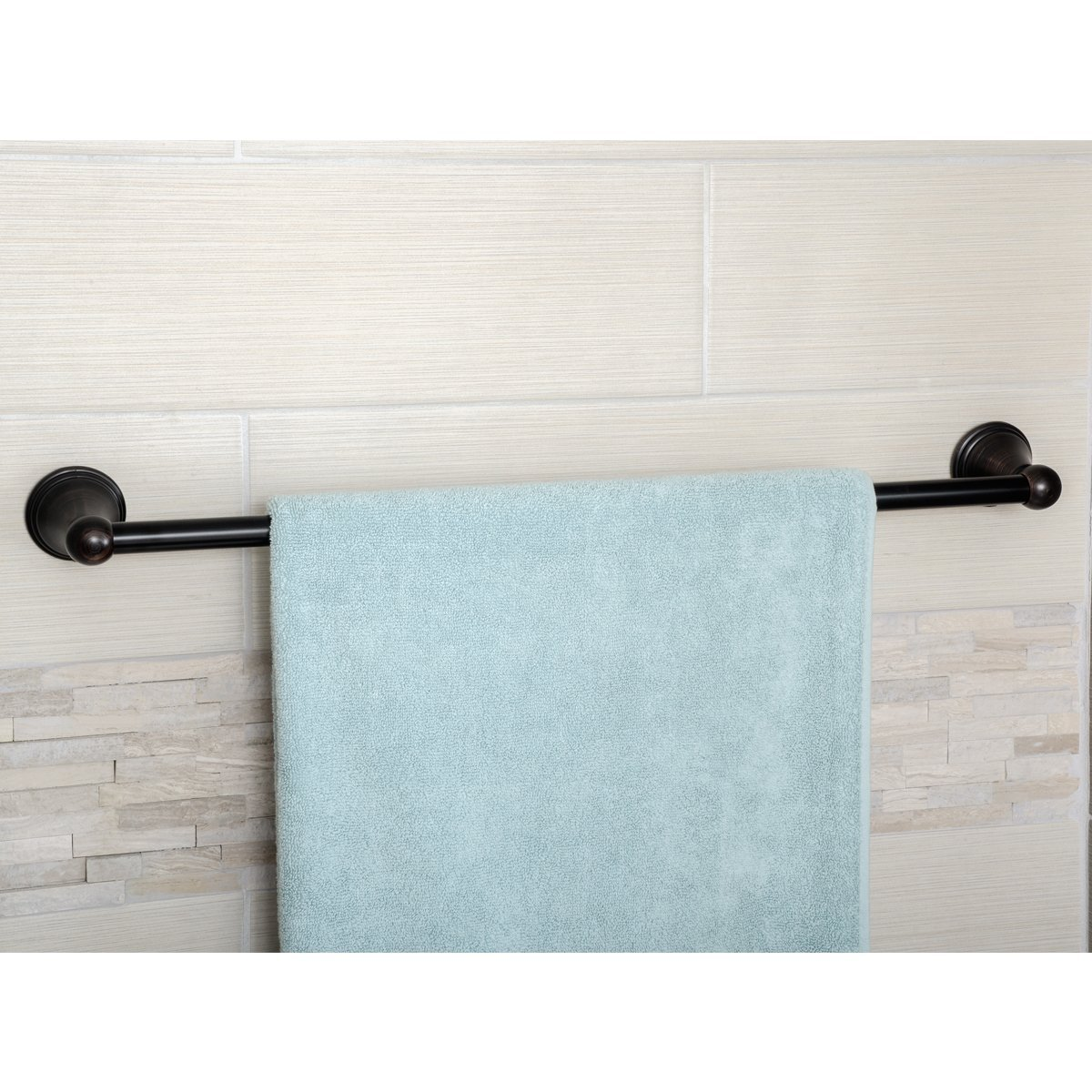 AmazonBasics Modern Towel Bar - Oil Rubbed Bronze, 24-inch ...