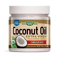 Nature's Way USDA Organic Extra Virgin Coconut Oil- Pure, Cold-Pressed, Non-GMO,...