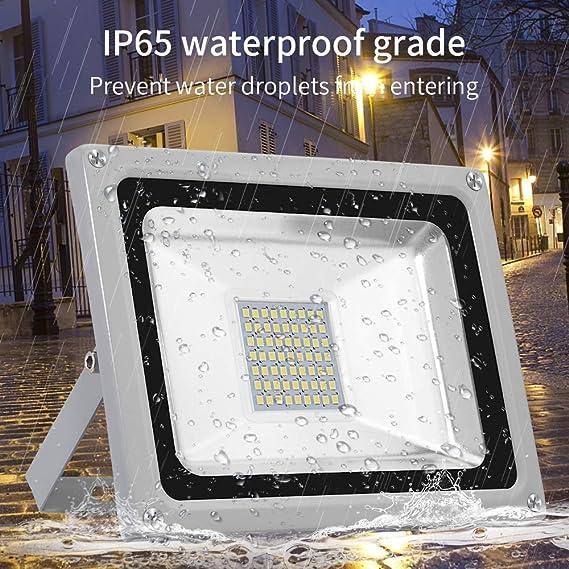 Viugreum Focos LED Exterior 30W, Floodlight Led 3000LM 6500K(Blanco Frío), Iluminación interior exterior Impermeable IP65, Foco LED para Jardín, Fábrica[Clase de eficiencia energética A]: Amazon.es: Iluminación