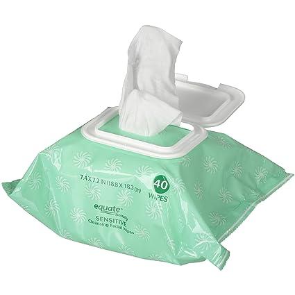 Toallitas de limpieza Facial equiparaste sensible, comparar a Simple limpieza Toallitas faciales, 40 cuenta