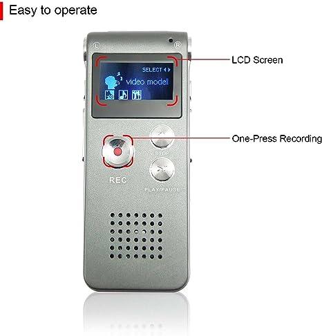 Voice Activated Mini Spy Digital Sound Audio Recorder Dictaphone MP3 Player 16GB