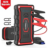 Car Jump Starter, YABER UPGRADE Portable Jump Starter 1600A Peak 20000mAh (All Gas / 7.0 L Diesel) 12V UL Certified Car Jumper Power Pack with Smart Jump Cables Built-in LED Light Lithium Battery