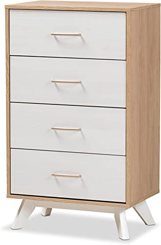 Baxton Studio Helga Mid-Century 4-Drawer Chest