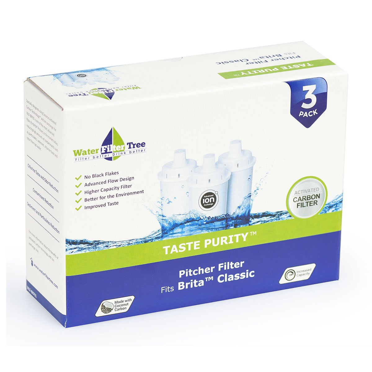 Brita Classic Replacement Cartridge Water Pitcher Filter WLF-BKF01 (Pack of 3)