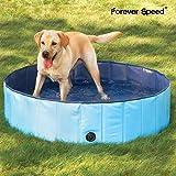 Forever Speed Hundepool Doggy Pool Hunde Pool Swimmingpool Badewanne Pool Φ80/120/160cm Blau Umweltfreundliche PVC